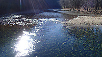 NWA Democrat-Gazette/FLIP PUTTHOFF<br /> Sunshine bathes the Buffalo National River Jan. 19 2018 at Ponca. A hike on the Buffalo River Trail from Ponca to Steel Creek and back is four miles.