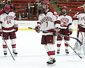 Danny Fick (Harvard - 7) - The Harvard University Crimson honored their seniors following their final home game of the regular season on Saturday, February 22, 2014 at the Bright-Landry Hockey Center in Cambridge, Massachusetts.