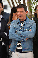 """CANNES, FRANCE. May 18, 2019: Antonio Banderas at the photocall for the """"Pain and Glory"""" at the 72nd Festival de Cannes.<br /> Picture: Paul Smith / Featureflash"""
