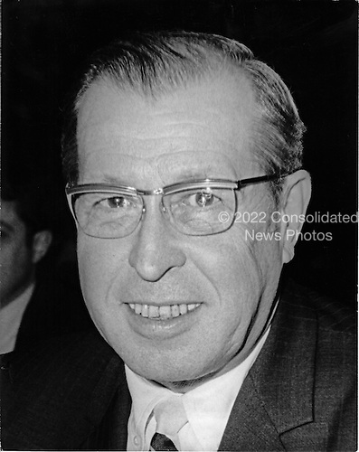Clement F. Haynsworth, Jr., United States President Richard M. Nixon's first nominee to be Associate Justice of the U.S. Supreme Court following the resignation of Associate Justice Abe Fortas is shown as he prepares to testify before the U.S. Senate Judiciary committee on Tuesday, September 16, 1969.  Haynsworth's nomination was defeated in the U.S. Senate by a 55 - 45 vote on Friday, November 21, 1969.  His was the first nomination defeated by the Senate since 1930..Credit: Arnie Sachs / CNP