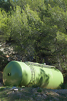 Storage tank in a forest, Marseille, France.