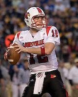 25 November 2006: Louisville Cardinals quarterback Brian Brohm (12)..The Louisville Cardinals defeated the Pitt Panthers 48-24 on November 25, 2006 at Heinz Field, Pittsburgh, Pennsylvania.