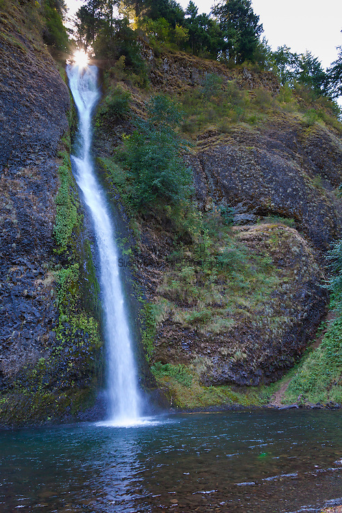 Horsetail Falls in the Columbia River Gorge, along the scenic Highway.