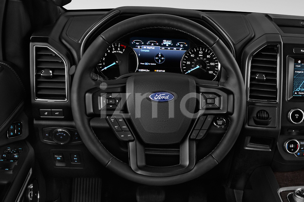 Car pictures of steering wheel view of a 2018 Ford Expedition XLT MAX 4x2 5 Door SUV