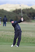 5th October 2017, The Old Course, St Andrews, Scotland; Alfred Dunhill Links Championship, first round; Jamie Donaldson of Wales hits a shot from the fairway on the seventeenth hole during the first round at the Alfred Dunhill Links Championship on the Old Course, St Andrews