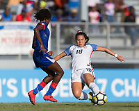 Bradenton, FL - Sunday, June 10, 2018: Sunshine Fontes prior to a U-17 Women's Championship match between the United States and Haiti at IMG Academy.  USA defeated Haiti 3-2 to advance to the finals.