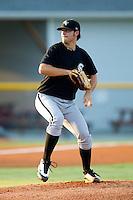 Starting pitcher Jarrett Casey #13 of the Bristol White Sox in action against the Burlington Royals at Burlington Athletic Stadium August 13, 2010, in Burlington, North Carolina.  Photo by Brian Westerholt / Four Seam Images