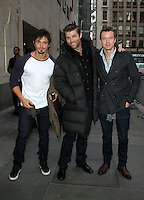 NEW YORK, NY - JANUARY 29: Tyrone Bell, Liam McIntyre and Todd Lasance at NBC's  Today Show in New York City. January 29, 2013. Credit: RW/MediaPunch Inc. /NortePhoto