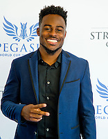 "HALLANDALE BEACH, FL - JAN 28: Isaiah McKenzie on the ""red carpet"" during the Pegasus World Cup Invitational Day at Gulfstream Park Race Course on January 28, 2017 in Hallandale Beach, Florida. (Photo by Scott Serio/Eclipse Sportswire/Getty Images)"