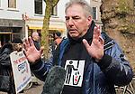 20170304,  Utrecht, PEGIDA demonstratie op Mariaplaats. pegida Nederland voorman Edwin Wagensveld <br /> foto Michael Kooren