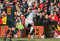 COLLEGE PARK, MD - NOVEMBER 03: Joel Harrison #4 of Michigan on the attack during a game between Michigan and Maryland at Ludwig Field on November 03, 2019 in College Park, Maryland.