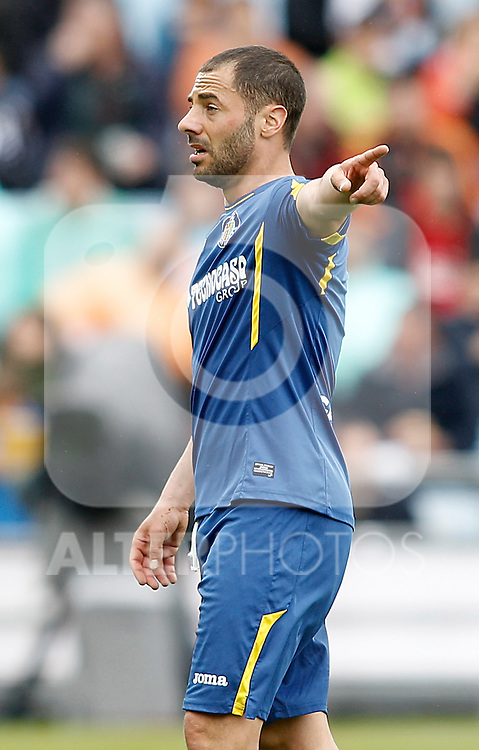Getafe's Mehdi Lacen during La Liga match. April 16,2016. (ALTERPHOTOS/Acero)