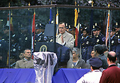 "United States President George H.W. Bush makes remarks at the eighth annual ""National Peace Officers' Memorial Day"" service on the West Front of the US Capitol in Washington, DC on Monday, May 15, 1989.<br /> Credit: Ron Sachs / CNP"