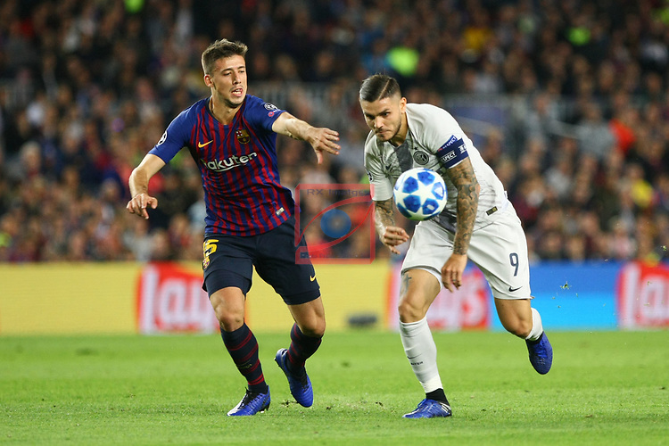 UEFA Champions League 2018/2019 - Matchday 3.<br /> FC Barcelona vs FC Internazionale Milano: 2-0.<br /> Clement Lenglet vs Mauro Icardi.