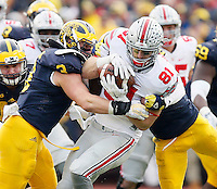 Ohio State Buckeyes tight end Nick Vannett (81) against Michigan Wolverines at Michigan Stadium in Arbor, Michigan on November 28, 2015.  (Dispatch photo by Kyle Robertson)