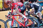 Race leader Chris Froome (GBR) Team Sky in action during the final Stage 21 of the 2017 La Vuelta, running 117.6km from Arroyomolinos to Madrid, Spain. 10th September 2017.<br /> Picture: Unipublic/&copy;photogomezsport | Cyclefile<br /> <br /> <br /> All photos usage must carry mandatory copyright credit (&copy; Cyclefile | Unipublic/&copy;photogomezsport)