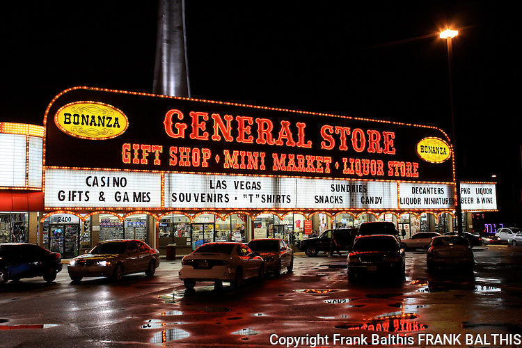 Bonanza General Store after Feb. rain in Las Vegas