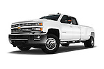 Stock pictures of low aggressive front three quarter view of 2016 Chevrolet Silverado-3500HD LT-Crew-Cab-Long-Box-DRW 4 Door Pick-up Low Aggressive