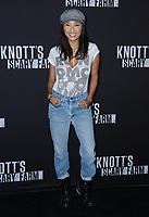 29 September  2017 - Buena Park , California - Jeannie Mai. 2017 Knott's Scary Farm Celebrity Night held at Knott's Berry Farm in Buena Park . Photo Credit: Birdie Thompson/AdMedia