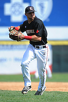 University of Louisville Cardinals infielder Zach Lucas (11) during practice before a game against the Temple University Owls at Campbell's Field on May 10, 2014 in Camden, New Jersey. Temple defeated Louisville 4-2.  (Tomasso DeRosa/ Four Seam Images)