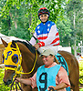 Go Go Romeo before The Longines Fegentri Gentlemen Championship at Delaware Park on 7/24/17 George Wood, up