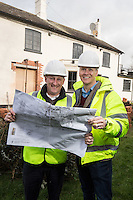 Mark Osbourne (left) and David Hage, licencess of The Railway, Lowdhan which is being refurbished.