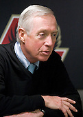 Jerry York (BC - Head Coach) - The Boston College Eagles defeated the Merrimack College Warriors 4-3 on Friday, October 30, 2009, at Conte Forum in Chestnut Hill, Massachusetts.