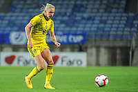 20200310 Faro , Portugal : Swedish Jonna Andersson (2) pictured during the female football game between the national teams of Portugal and Sweden on the third matchday of the Algarve Cup 2020 , a prestigious friendly womensoccer tournament in Portugal , on Tuesday 10 th March 2020 in Faro , Portugal . PHOTO SPORTPIX.BE | STIJN AUDOOREN