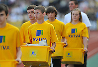 Photo: Tony Oudot/Richard Lane Photography..Aviva London Grand Prix. 24/07/2009. .Aviva kit carriers.