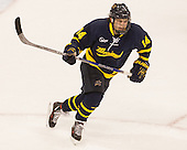 Mathieu Foget (Merrimack - 14) - The Boston University Terriers defeated the visiting Merrimack College Warriors 4-0 (EN) on Friday, January 29, 2016, at Agganis Arena in Boston, Massachusetts.