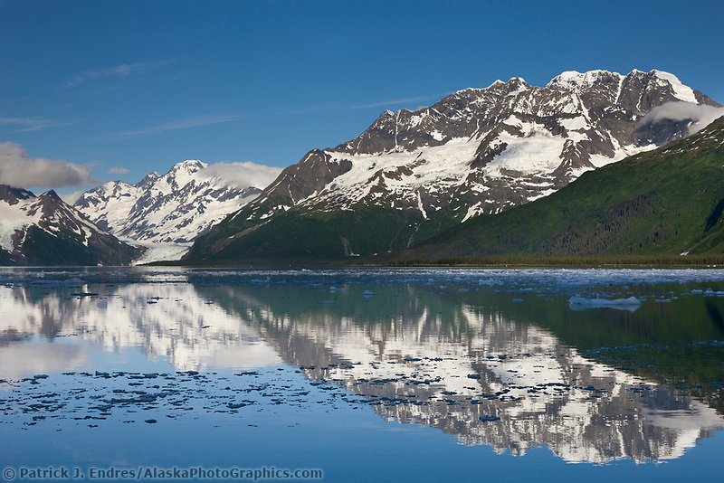 Mount Muir, Harriman Fjord, Chugach mountains, Chugach National forest, Prince William Sound, southcentral, Alaska.