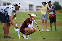 Ryann O'Toole (USA) looks over her putt on 9 during the round 2 of the Volunteers of America Texas Classic, the Old American Golf Club, The Colony, Texas, USA. 10/4/2019.<br /> Picture: Golffile | Ken Murray<br /> <br /> <br /> All photo usage must carry mandatory copyright credit (© Golffile | Ken Murray)
