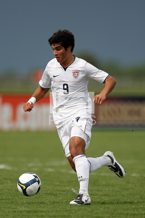 Soony Saad (9) of the USA. The US U-17 Men's National Team defeated the Development Academy Select Team 5-3 during day two of the US Soccer Development Academy  Spring Showcase in Sarasota, FL, on May 23, 2009.