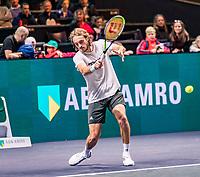 Rotterdam, The Netherlands, 9 Februari 2020, ABNAMRO World Tennis Tournament, Ahoy, Qualyfying round: Stefanos Tsitsipas (GRC)<br /> Photo: www.tennisimages.com