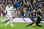 Isco Alarcon of Real Madrid in action during the match of Spanish La Liga between Real Madrid and UD Las Palmas at  Santiago Bernabeu Stadium in Madrid, Spain. March 01, 2017. (ALTERPHOTOS / Rodrigo Jimenez)