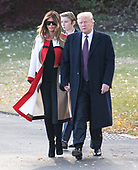 First lady Melania Trump, Barron Trump and United States President Donald J. Trump walk from the Oval Office to Marine One where they will spend the Thanksgiving holiday on Tuesday, November 20, 2018.  The President took questions about his daughter Ivanka's e-mails, various court cases and Saudi Arabia.<br /> Credit: Ron Sachs / CNP<br /> (RESTRICTION: NO New York or New Jersey Newspapers or newspapers within a 75 mile radius of New York City)