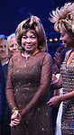 """Tina Turner and Adrienne Warren during the """"Tina - The Tina Turner Musical"""" Opening Night Curtain Call at the Lunt-Fontanne Theatre on November 07, 2019 in New York City."""