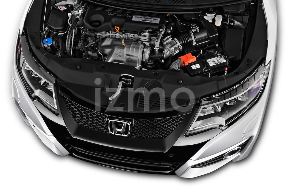 Car Stock 2016 Honda Civic Tourer Executive 5 Door Wagon Engine  high angle detail view