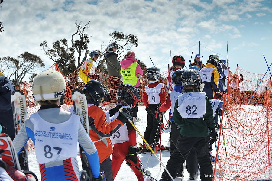 PERISHER VALLEY, AUSTRALIA, 13 September 2008 - Australian Interschools Snowsports Championships held at Perisher Valley, NSW on 13 September 2008. Photo by Sydney Low / AsteriskImages.com