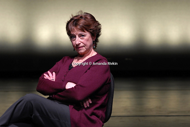 Shirley Mordine, a former Columbia College Chicago dance professor for 35 years and founder of the Columbia Dance Center, in the center's theater at 1306 S. Michigan Ave in Chicago, Illinois on March 7, 2008.  The Columbia Dance Center is the oldest of its kind in the city of Chicago.