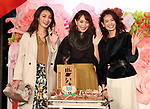 September 6, 2017, Tokyo, Japan - Japanese models (L-R) Satoumi, Yuri Ebihara and Midori Kuzuoka display the latest clothes for female office workers at the Marunouchi building in Tokyo on Wednesday, September 6, 2017 to celebrate the 15th anniversary of the fashion and office multifunction building.   (Photo by Yoshio Tsunoda/AFLO) LwX -ytd-
