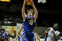 Saints forward Casey Frank takes a rebound. NBL - Wellington Saints v Nelson Giants at TSB Bank Arena, Wellington, New Zealand on Thursday, 19 May 2011. Photo: Dave Lintott / lintottphoto.co.nz