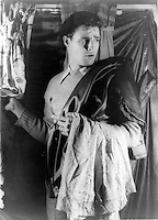 1948-[Portrait of Marlon Brando, in A Streetcar Named Desire]<br /> <br /> Marlon Brando, Jr. (April 3, 1924 ? July 1, 2004) was an Academy Award-winning American actor, whose body of work spanned over half a century. As a young sex symbol, he is best known for his roles as Stanley Kowalski in A Streetcar Named Desire and Terry Malloy in On the Waterfront, both directed by Elia Kazan in the early 1950s. In middle age, his well-known roles include his Academy-Award winning performance as Vito Corleone in The Godfather and Colonel Walter Kurtz in Apocalypse Now, the latter two directed by Francis Ford Coppola in the 1970s.<br /> <br /> He is widely regarded as one of the greatest actors of his time.[1]<br /> <br /> Brando was also an activist, lending his presence to many issues, including the American Civil Rights and American Indian Movements. He was named the fourth Greatest Male Star of All Time by the American Film Institute.