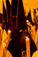 Spain-Andalusia-Seville-Holy Week-Nazarenos-Penitents