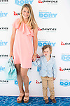 "Carla Goyanes with his son attends to the morning premiere of the film ""Buscando a Dory"" at Cines Kinepolis in Madrid. June 19. 2016. (ALTERPHOTOS/Borja B.Hojas)"