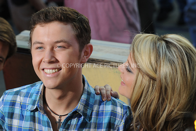 WWW.ACEPIXS.COM . . . . . .June 2, 2011...New York City...Scotty McCreery and Lauren Alaina perform on NBC's 'Today' at Rockefeller Center on June 2, 2011 in New York City.....Please byline: KRISTIN CALLAHAN - ACEPIXS.COM.. . . . . . ..Ace Pictures, Inc: ..tel: (212) 243 8787 or (646) 769 0430..e-mail: info@acepixs.com..web: http://www.acepixs.com .