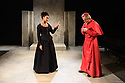 Troupe presents THE CARDINAL, by James Shirley, directed by Justin Audibert, at Southwark Playhouse. Picture shows: Natalie Simpson (Duchess Rosaura), Stephen Boxer (Cardinal).