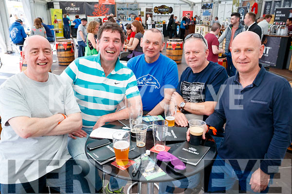 Tony Cox, Joe Sugrue, Phil Fitzsimons, Colin Vanackeren and Michael Coleman, pictured at the Killarney Beerfest on Saturday evening last.