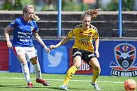 20190807 - DENDERLEEUW, BELGIUM : LSK's Synne Skinnes Hansen (right) pictured in a duel with Linfield's Louise McFrederick (left) during the female soccer game between the Norwegian LSK Kvinner Fotballklubb Ladies and the Northern Irish Linfield ladies FC , the first game for both teams in the Uefa Womens Champions League Qualifying round in group 8 , Wednesday 7 th August 2019 at the Van Roy Stadium in Denderleeuw  , Belgium  .  PHOTO SPORTPIX.BE for NTB  | DAVID CATRY