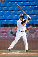 Brett Bonvechio (52) of the Winston-Salem Warthogs at bat at Ernie Shore Field in Winston-Salem, NC, Thursday July 27, 2008. (Photo by Brian Westerholt / Four Seam Images)